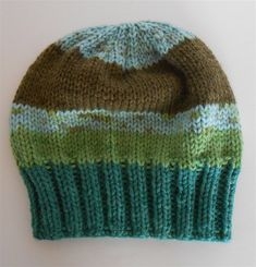 8625c7956bd Hand Knit Hat Green Multi Slouchy Beanie Hats, Knitted Oversize Hats  Slouchy Beanie Hats,