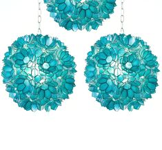 Turquoise Capiz Shell Pendants  Inspiring Hollywood Interior Design Accents, Courtesy of InStyle-Decor.com Beverly Hills for Interior Design Fans to Enjoy