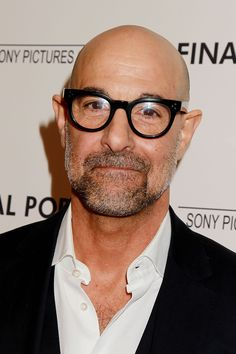 Inside an Intimate Screening of Stanley Tucci's Latest Film - Stalney Tucci – TownandCountrymag… - Bald Men Style, Stanley Tucci, Mens Glasses Frames, Bald Man, Elegant Man, Advanced Style, Star Girl, Big Guys, Eyeglasses For Women