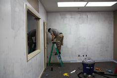 80's Party Room - priming the walls