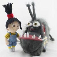 2 PCS/Set Agnes Minions Despicable Me with Kyle Gray Gru's Dog Stuffed Plush…