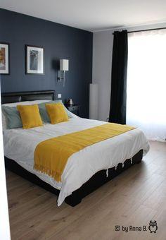 home decor bedroom wall stickers Living Room Interior, Home Decor Bedroom, Modern Bedroom, Bedroom Ideas, Bedroom Rustic, Blue Rooms, Blue Bedroom, Master Bedroom, Bedroom Wall