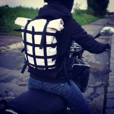 Rolltop Braasi Industry Backpack with webbing