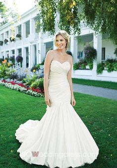 Fabulous Trumpet/Mermaid Sweetheart Ruched Wedding Dress