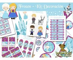 Frozen - Kit Decoracion Fiesta Imprimible - Textos Editables  http://www.wonkistienda.com.ar/frozen-kit-decoracion.html