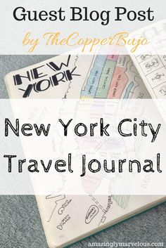 Traveling to New York City soon? Get some journaling inspiration for your next travel spreads