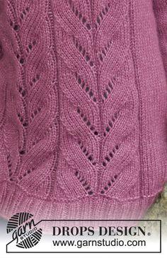 Ravelry: Lotus pattern by DROPS design Drops Design, Knit Vest Pattern, Sweater Knitting Patterns, Knitting Stiches, Free Knitting, Lace Patterns, Clothing Patterns, Fair Isle Knitting, Knitting For Beginners