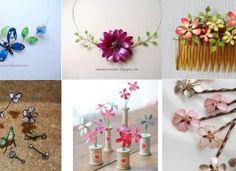 Návod na jarní květinové ozdoby z drátků a laku na nehty