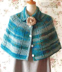 Crochet Shawls: Crochet - Women's Cape For Winter: