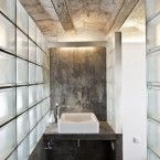 Glass Blocks provide light and privacy modern shower room Budget Bathroom, Bathroom Wall Decor, Bathroom Interior, Modern Bathroom, Small Bathroom, Bathroom Ideas, Modern Shower, Loft Industrial, Glass Brick