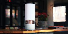 Pavilion spiraled wireless speakers double as art