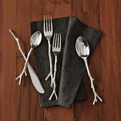 Twig Flatware 5-pc. Set - Silver #WestElm