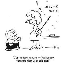 Cartoons and quotes about math