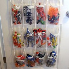 Not Just For Shoes.  Creative ways to organize toys.