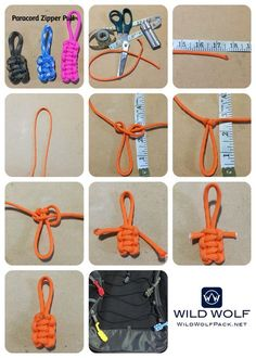 http://wildwolfpack.net/2016/11/14/paracord-zipper-pull/ - How to Make a Paracord Zipper Pull only need 18 inches of paracord - Video and Printable Instructions - #WildWolf