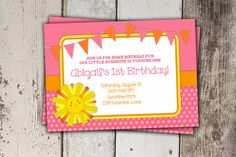 Baby's First Birthday theme...You are my Sunshine. So sweet and perfect for that age :)