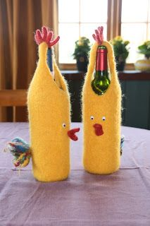 felted wine bottle holder