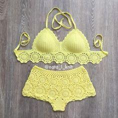 Crochet Bra, Crochet Crop Top, Crochet Motif, Crochet Clothes, Crochet Patterns, Crochet Two Piece, Festival Tops, Pattern Blocks, Monokini