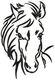 Horse sketch 2 machine embroidery design. Machine embroidery design. www.embroideres.com