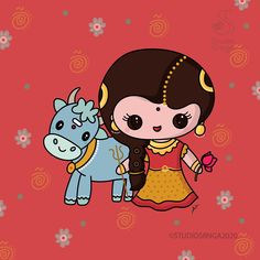 Durga Ji, Durga Goddess, Outline Illustration, Kawaii Illustration, 8th Day Of Navratri, Maa Durga Image, Diy Crafts For Boyfriend, Durga Images, Learn Art