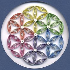 Flower of Life Mandala - Quilling art by  LesleyD39
