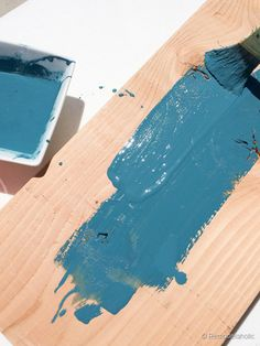 Color washing wood with paint