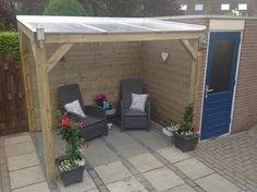 Do you want a wooden patio cover? Or a garden house or shed with a roof? - Do you want a wooden patio cover? Or a garden house or shed with a roof? Heijboer Tuinhout is exper - Curved Pergola, Deck With Pergola, Pergola Kits, Pergola Ideas, Patio Roof, Backyard Pavilion, Garden Gazebo, Field Shelters, Deck Planters