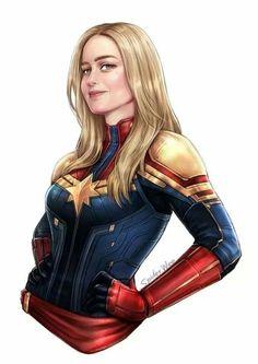 Captain Marvel By SpiderWee Marvel Comics, Marvel E Dc, Dc Comics Art, Disney Marvel, Marvel Heroes, Marvel Avengers, Avengers Women, Cosmic Comics, Dc Superhero Girl