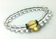 Jewelry/ Bracelet/ Stretch/ Crystal Quartz by CatchyTreasures