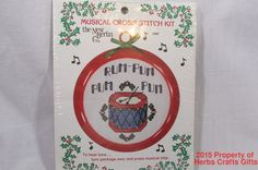 Rum Pum Pum Musical Counted Cross Stitch New Kit Berlin Christmas #NewBerlin #Sampler