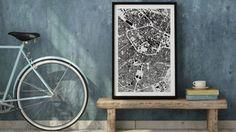 Je kunt nu je eigen fietsroute als kunstwerk inlijsten en ophangen