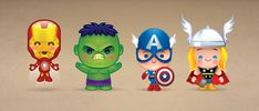 https://flic.kr/p/c4Pf6y | Kawaii Avengers | A little late to the game with this one. My cutesy take on the Avengers.