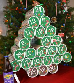 Start your Christmas countdown and make it a fun activity for all the kids at home with the below-given DIY advent calendar ideas. Wine Advent Calendar, Advent Calenders, Diy Calendar, Diy Christmas Advent Calendar, Advent Calendar Ideas For Adults, Kids Advent, Christmas Beer, Christmas Holidays, Christmas Crafts