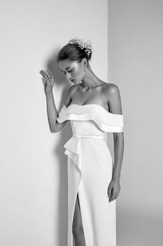 Alon Livné White 2018 Wedding Dresses,wedding dress,off the shoulder wedding dress ,ruffled wedding dress