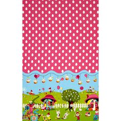 Michael Miller Easter in Gnomeville Border Multi Fabric By The Yard