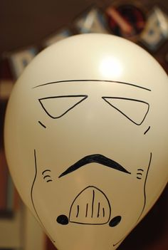 Storm Trooper balloon for a Star Wars themed party