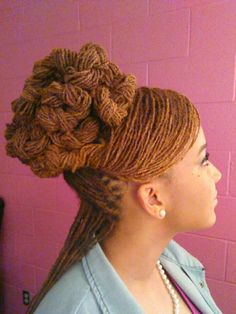 Sisterlocs Twisted Coiled Updo By:Angela Cooper