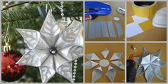 DIY Christmas Glittery Flower Ornament--> http://wonderfuldiy.com/wonderful-diy-christmas-glittery-flower-ornament/