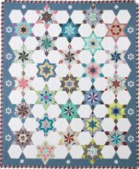 Bling Bling Snowflake by Chungsu Lee -- one of the most striking and interesting (not to mention challenging) scrap quilts I've ever seen.