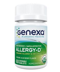 Genexa 60-Ct. AllergyD Organic Chewable Tablets   zulily