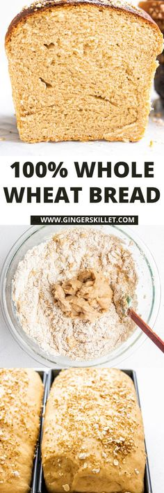 Easy Whole Wheat Bread Recipe – The BEST 100% whole wheat bread you'll ever make that is so soft and delicious. Made with milk this bread loaf will give white sandwich bread a run for its money!