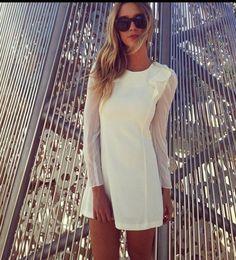 cream dress!