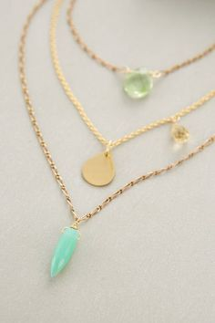 I don't have a layered drop necklace yet, so something to work with my v-neck tops would be cute.