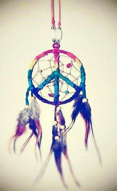 Peace sign dream catcher.