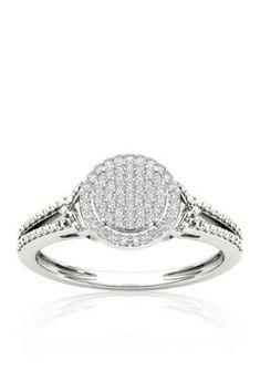 Belk  Co.  16 ct. t.w. Diamond Promise Ring in 10k White Gold