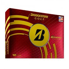 Bridgestone Tour B330-RX Tour Yellow Golf Balls Made In The USA Edition - 1 Dozen
