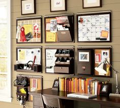 "Wall organization - something that would be good for my current office set up where I have little room - I hate ""On desk"" clutter and my office is in a walk in closet - so maximum usage of vertical space is a must!"