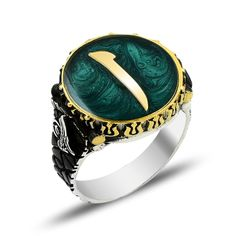 Beelogold - 925K Sterling Silver Alif Men Ring