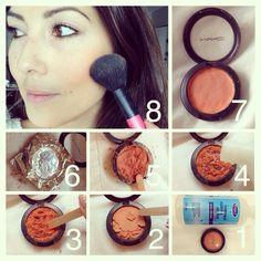 DIY tip for all those broken eyeshadows or powders ...did ...