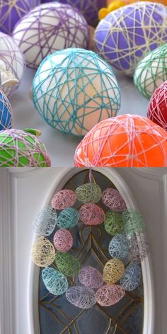 This easy Easter Egg Wreath is the perfect craft! It will last for years. Easter Egg Crafts, Easter Art, Bunny Crafts, Easter Eggs, Spring Crafts, Holiday Crafts, Crafts To Sell, Diy Crafts, Sell Diy